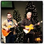 Jason Day and Mike Barnes leading worship at Me's Bible Study